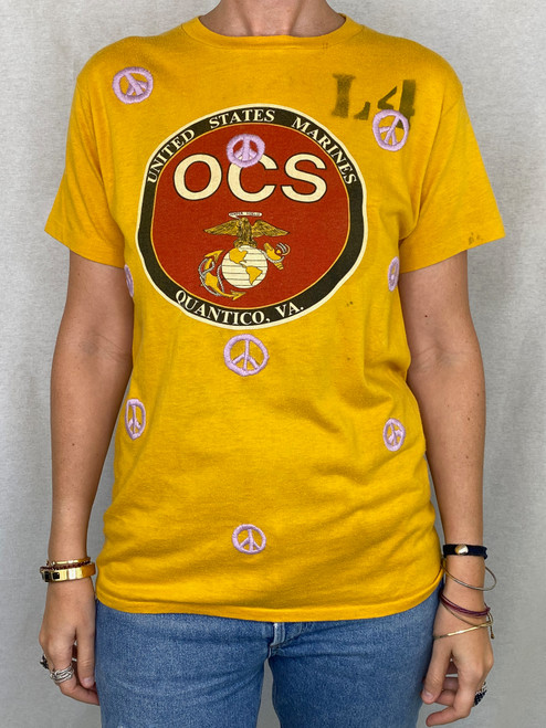 Peace Vintage T-Shirt - Gold