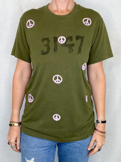 Peace Vintage T-Shirt - Army 2