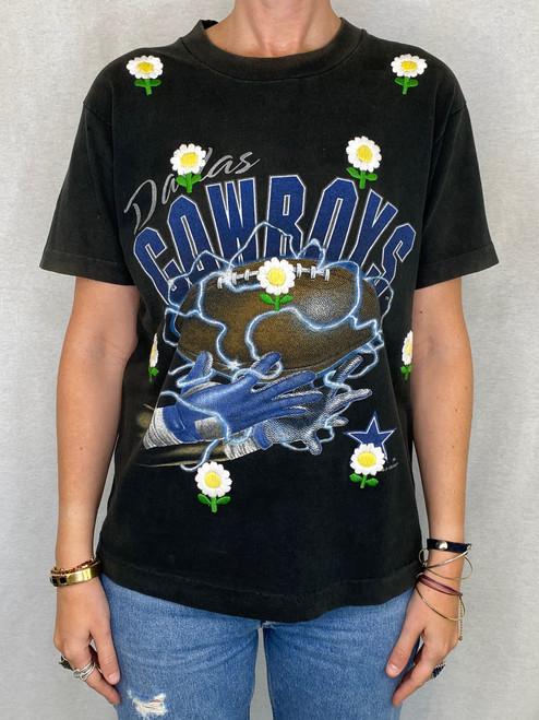 Daisies Vintage T-Shirt - Black