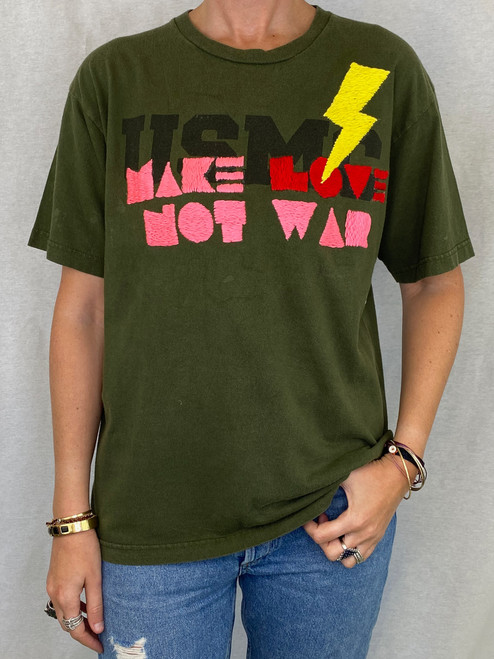 Make Love Vintage T-Shirt - Army
