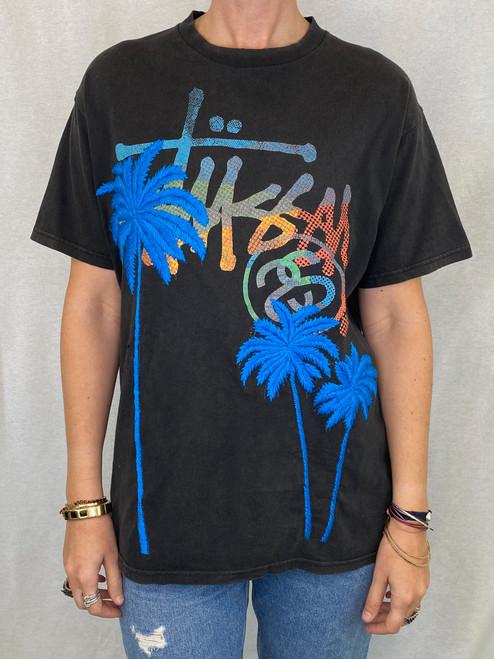 Palms Vintage T-Shirt - Black