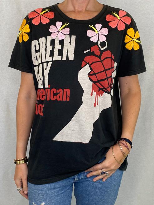 Hibiscus Vintage T-Shirt - Black