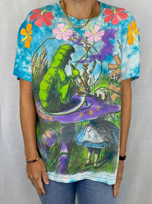 Hibiscus Vintage T-Shirt - Tie Dye