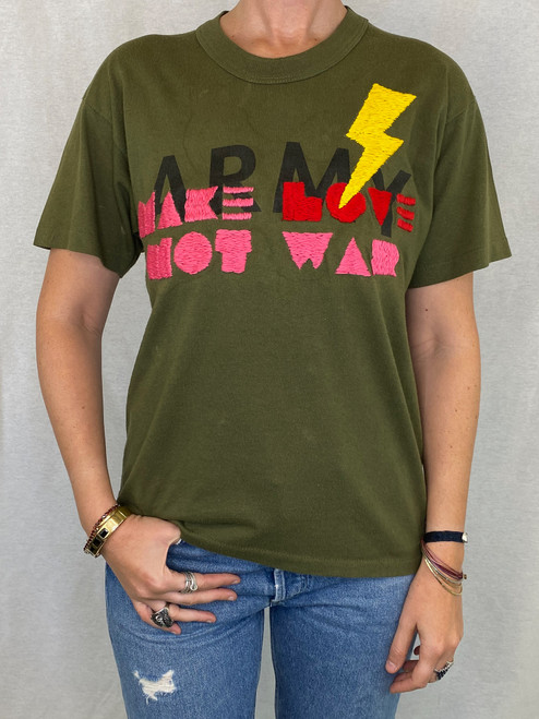 Make Love Vintage T-Shirt - Army 2