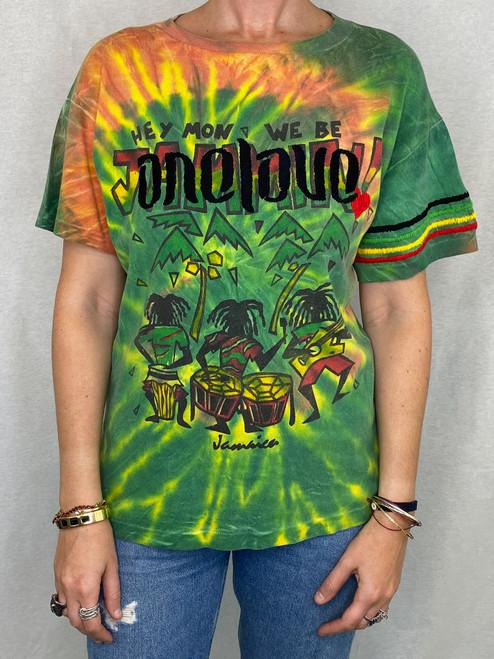 One Love Vintage T-Shirt - Tie Dye