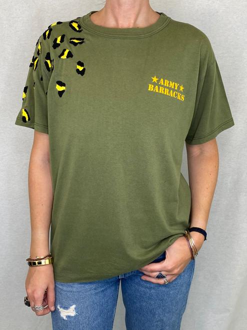 Leopard Vintage T-Shirt - Army