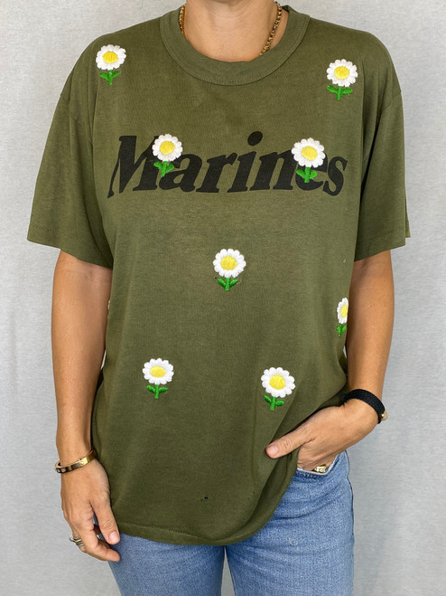 Daisies Vintage T-Shirt - Army