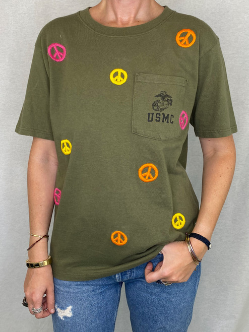 Peace Vintage T-Shirt - Army 3