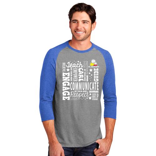 Unisex Perfect Tri® 3/4-Sleeve Raglan Shirt - INSPIRE Design