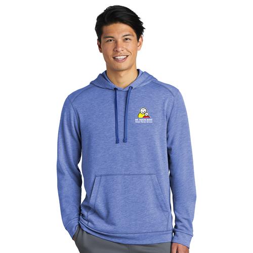 Men's Tri-Blend Wicking Fleece Hooded Pullover