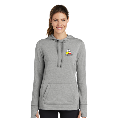 Ladies' Tri-Blend Wicking Fleece Hooded Pullover