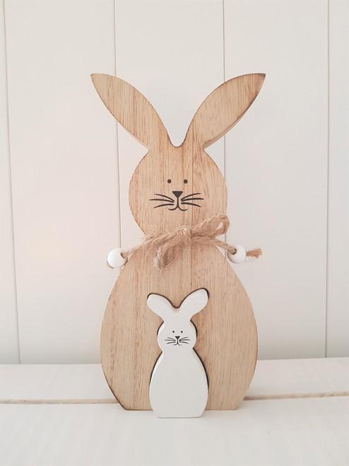 Wooden Bunny & Baby