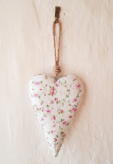 Ditsy Floral Hanging Heart