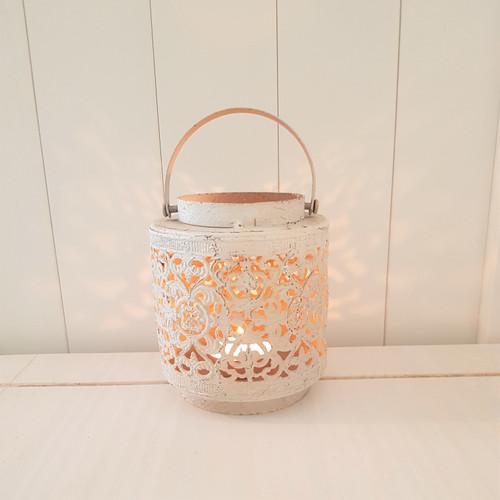 Cream Metal Lantern