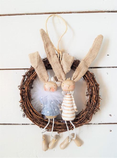 Hanging Bunny Wreath