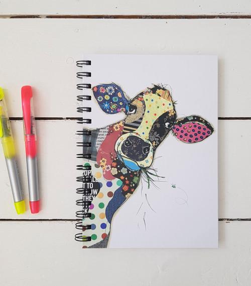 Bug Art Connie Cow Notebook, A5