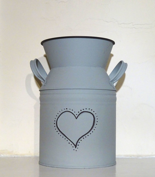 Grey Churn With Embossed Heart