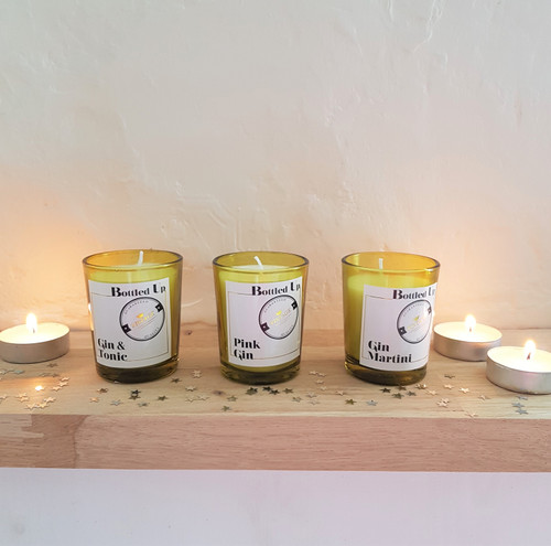 Gin Cocktail Candles, Set Of 3