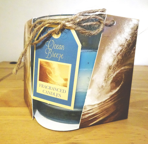 Layered Scented Candle - Ocean Breeze