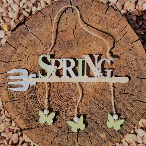Spring Wooden Sign