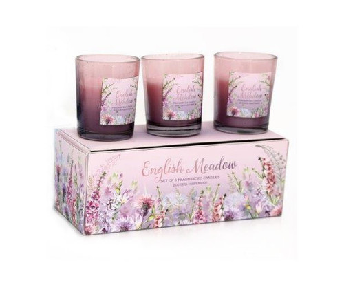 Meadow Scented Candles, Set Of 3