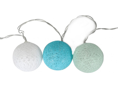 LED Woven String Garland - Coastal Blue