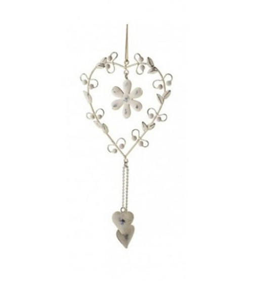 Hanging Heart - Flower