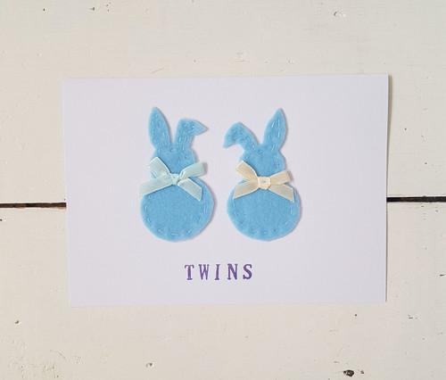 Twin Baby Boy Card