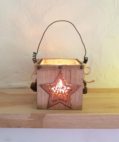 Copper Star Tea-Light Holder