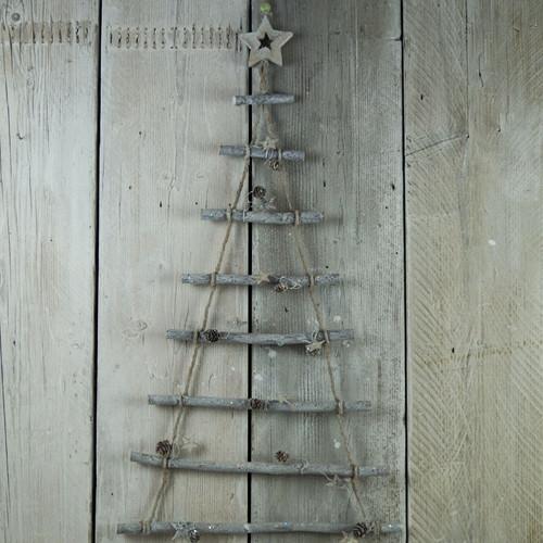 Hanging Twig Christmas Tree