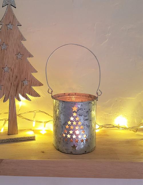 Star Cut Tree Tea-Light Holder