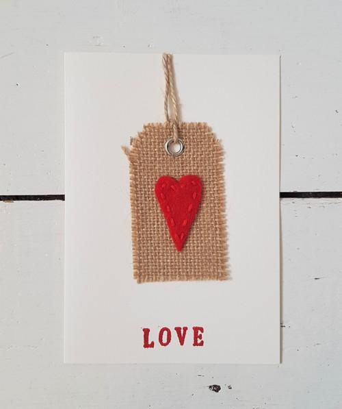 Heart Tag Love Card