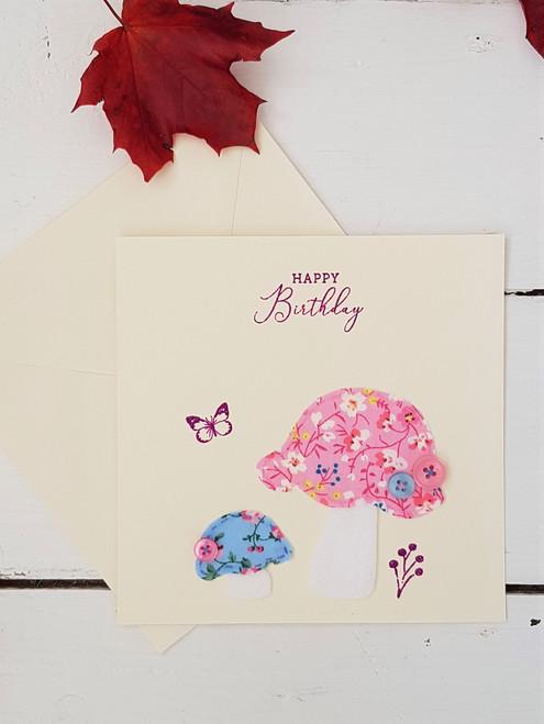 Floral Mushroom Birthday Card