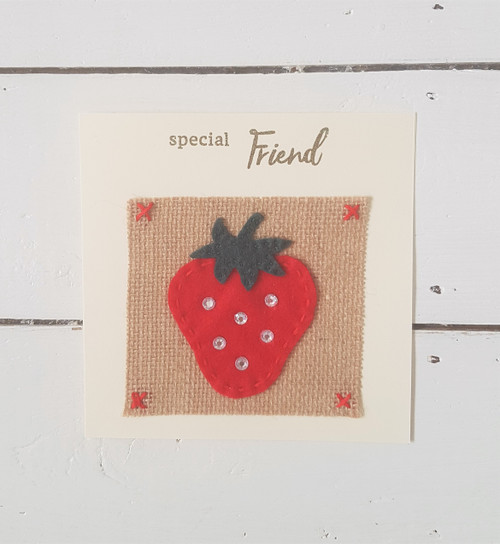 Strawberry Special Friend Card