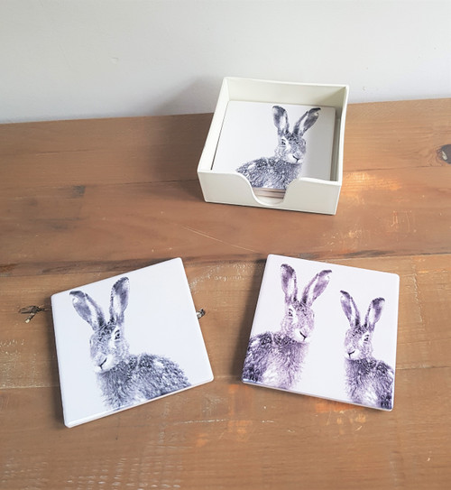 Ceramic Hare Coasters