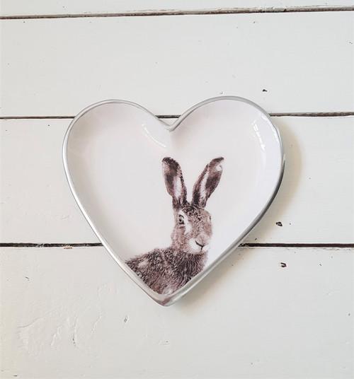 Grey Hare Heart Plate