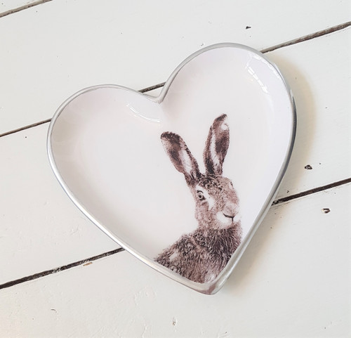Grey Hare Heart Plate