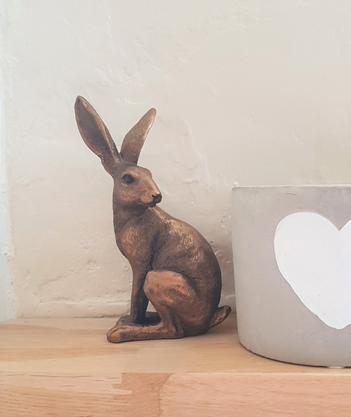 Bronze Sitting Hare