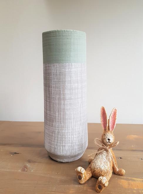 Eucalyptus Vase - Light Grey