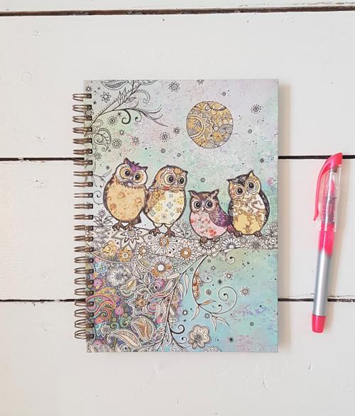 Bug Art Owl Notebook, A5