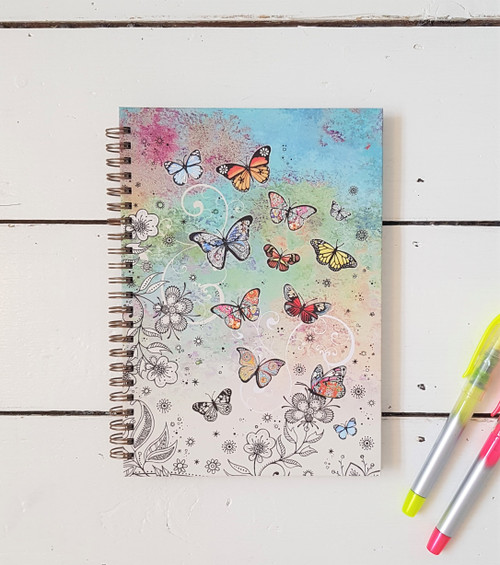 Bug Art Butterflies Notebook, A5