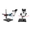 7X-45X Widefield Zoom Stereo Microscope, Trinocular, Single Arm Boom Stand (Siedentopf)