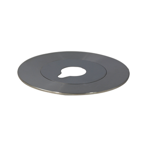 Microscope Stage Insert Plate, Metal Dia. 110mm for Metallurgical Microscopes, Silver