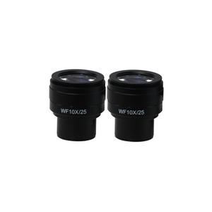 WF 10X Widefield Focusable Microscope Eyepieces, High Eyepoint, 30mm, FOV 25mm, Adjustable Diopter (Pair)