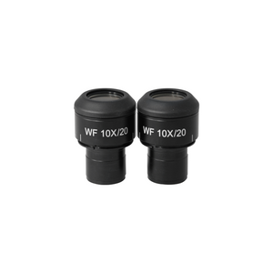 WF 10X Widefield Focusable Microscope Eyepieces, Adjustable, High Eyepoint, 23.2mm, FOV 20mm, Adjustable Diopter (Pair)
