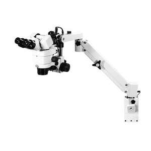 3.44X/6.25X/10.94X/18.75X/34.38X LED Coaxial Reflection Light Pneumatic Arm Trinocular Parallel Multiple Power Operation Stereo Microscope SM51030131