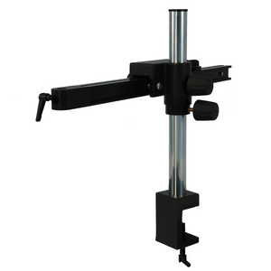 Microscope Boom Stand with Clamp, Single Square Arm
