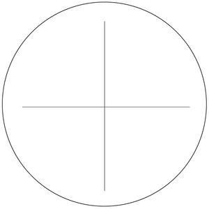 Microscope Eyepiece Reticle Cross Line Scale Dia. 27mm