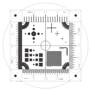 Microscope Stage Calibration Slide (Glass) Multi-Functional Micrometer (Dot, Cross Line, Square, Net Grid Checkerboard)