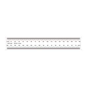 180mm/1800 Div Transparent Ruler RT02420303